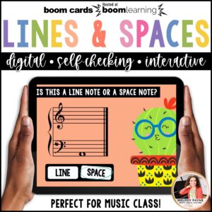 BOOM Cards: Lines & Spaces