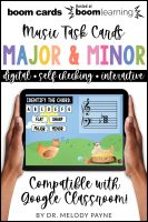 BOOM Cards: Major & Minor Root Position Chords by Melody Payne
