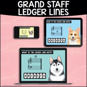 BOOM Cards: Ledger Lines on the Grand Staff