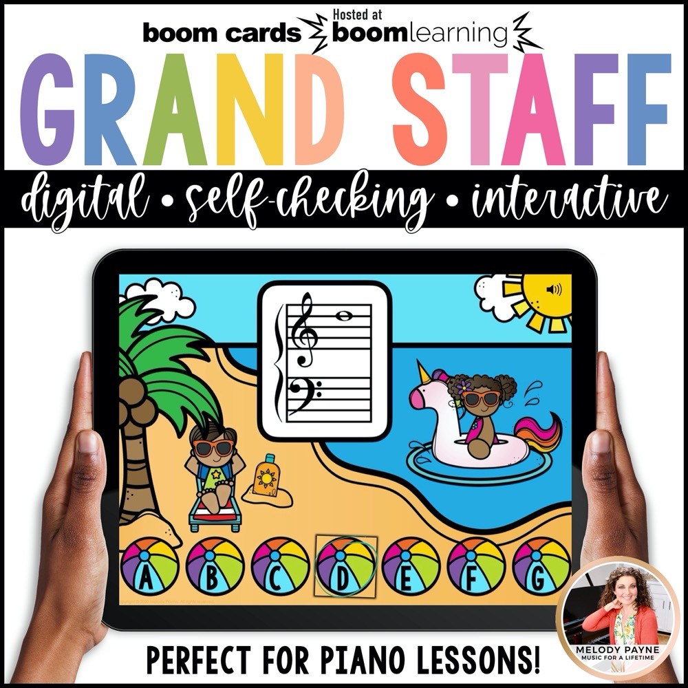 Note Naming on the Grand Staff: Low F to High G by Melody Payne
