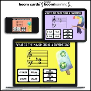 BOOM Cards: Major Chords & Inversions