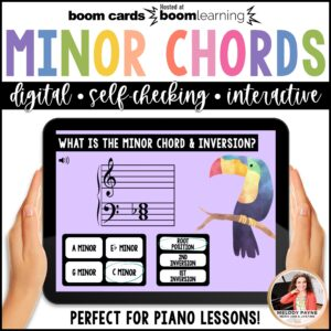 BOOM Cards: Minor Chords & Inversions