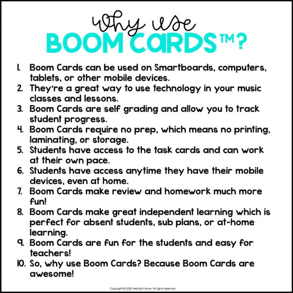 Music & Piano BOOM Cards by Melody Payne