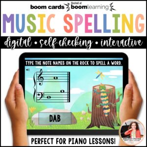Musical Spelling Words BOOM Cards by Melody Payne