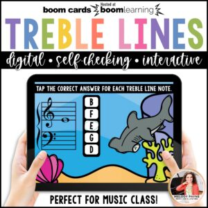 BOOM Cards: Treble Line Notes 100 Note Challenge!