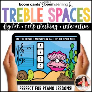 Treble Space Notes 100 Note Challenge by Melody Payne