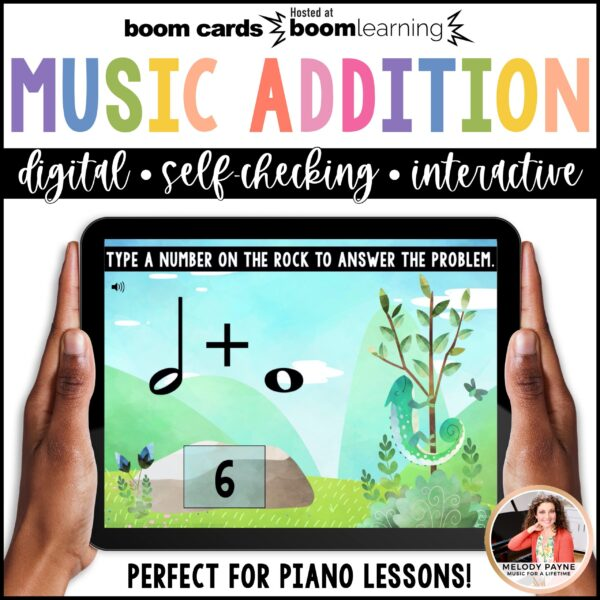 BOOM Cards: Music Math Addition by Melody Payne