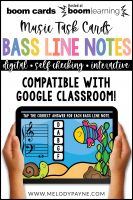 BOOM Cards: Bass Clef Line Notes 100 Note Challenge! by Melody Payne www.melodypayne.com