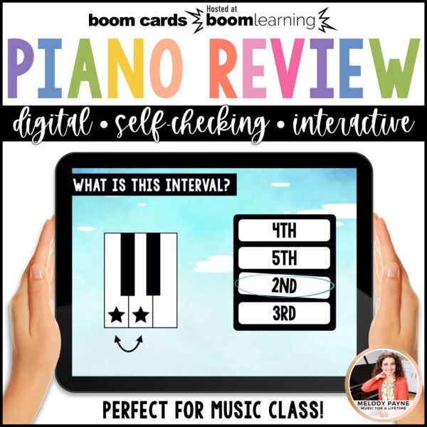 Music BOOM Cards: Beginning Piano Review by Melody Payne