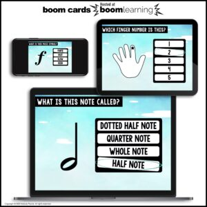 Music BOOM Cards: Beginning Piano Review