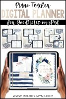 Piano Teacher Digital Planner for GoodNotes on iPad by Melody Payne www.melodypayne.com/shop