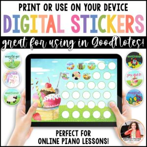 Piano Practice Charts & Digital Stickers