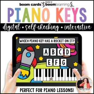 Boom Cards White Piano Keys by Melody Payne www.melodypayne.com