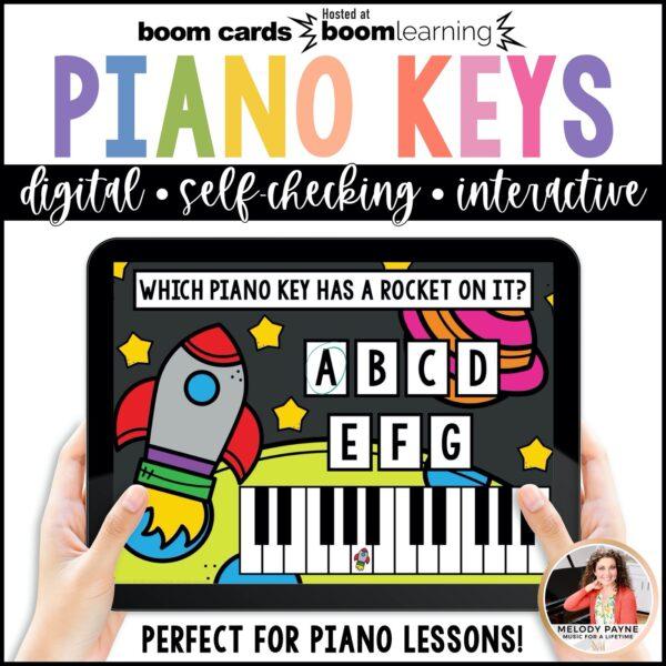 Boom Cards White Piano Keys by Melody Payne www.melodypayne.com