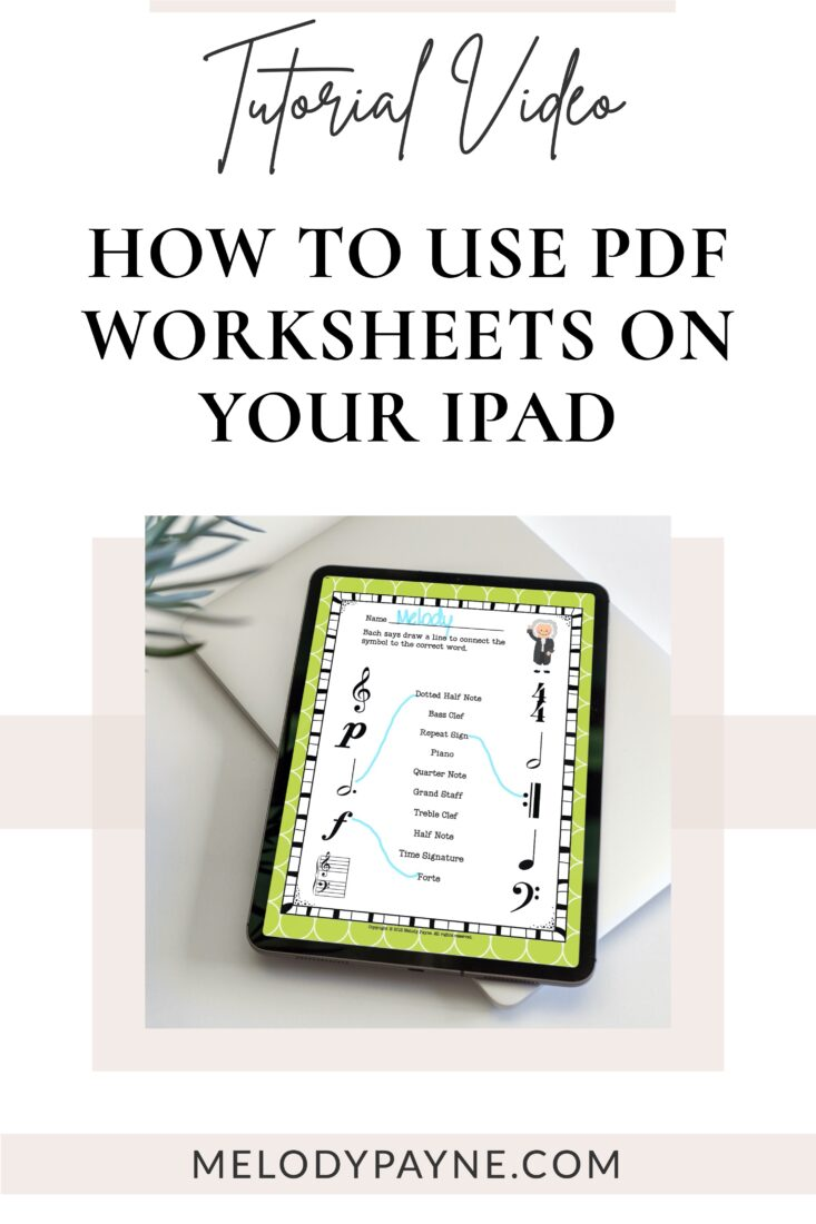How to Use PDF Worksheets on Your iPad During Online Piano Lessons
