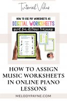 How to use PDF music worksheets digitally on your iPad by Melody Payne