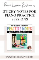 Printable Sticky Notes Upload for Vistaprint by Melody Payne www.melodypayne.com