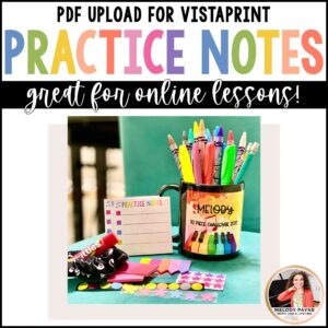 Printable Sticky Notes for Piano Lessons by Melody Payne www.melodypayne.com