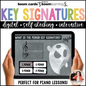 Music BOOM Cards: Halloween Key Signatures