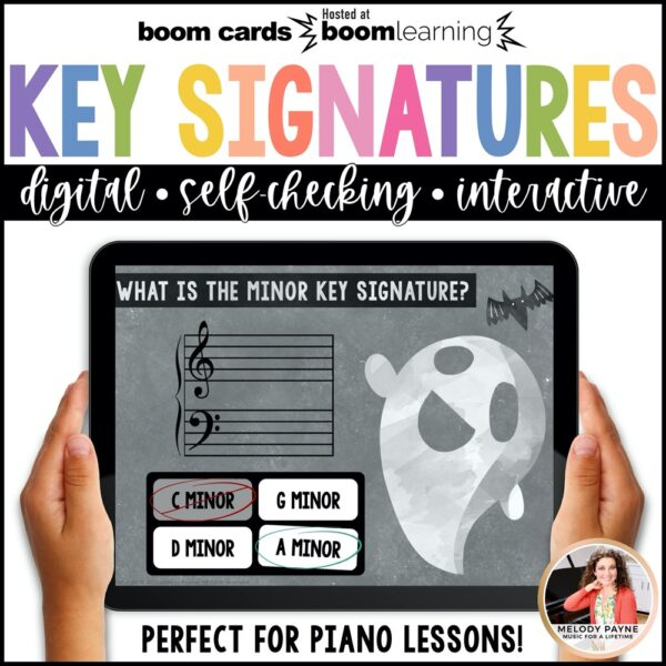 Music BOOM Cards: Halloween Key Signatures by Melody Payne