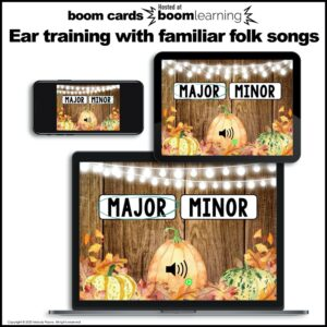 Distance Learning Music BOOM Cards: Ear Training Major and Minor