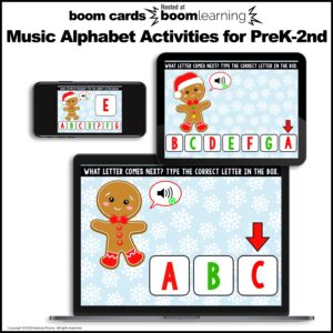 Distance Learning BOOM Cards: Music Alphabet Activities to Review ABCDEFG