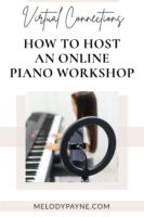 How to organize and host an online piano workshop