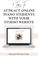 7 tips to attract online piano students with your studio website