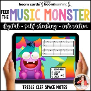 Music BOOM Cards: Treble Space Notes FACE Sight-Reading and Ear Training