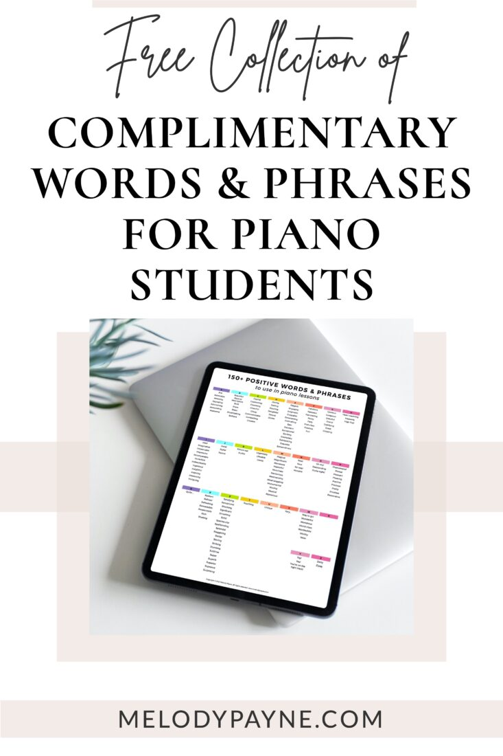 "List of 150 Ways to Say ""Good"" in Piano Lessons"