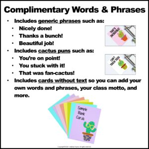 Kudos Cards to Compliment, Encourage, Reward, and Commend Your Students
