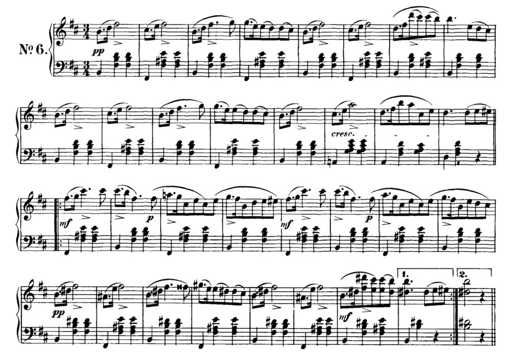 Schubert Waltz in B Minor