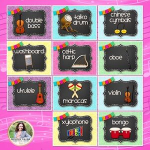 Musical Instrument Posters & Labels for Elementary Music
