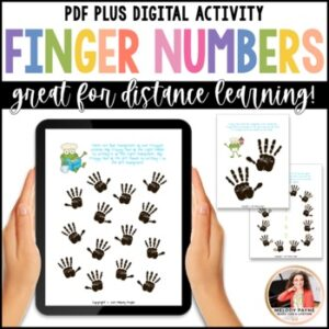 Distance Learning Digital Worksheets: Beginning Piano Finger Numbers