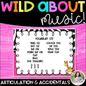 Distance Learning Digital Worksheets: Wild About Music: Parts of the Grand Staff