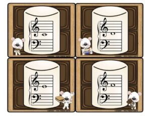 Music Note Flash Cards for Elementary Music Students (Treble & Bass Clef)