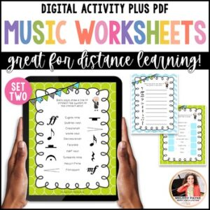 Distance Learning Digital Music Worksheets: Bach to the Basics 2