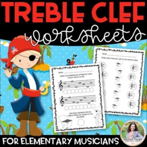 Treble Clef Digital Music Worksheets for Distance Learning