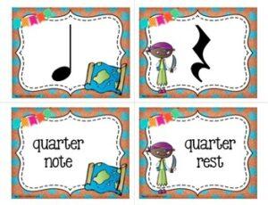 Music Symbol Memory Match Game: Pirate Theme