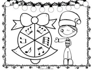 Christmas Rhythm Spinners for Elementary Music Students {Color and Ink-Friendly}