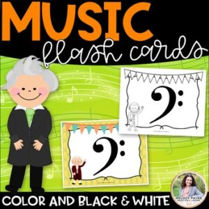 Music Symbol Flash Cards {8.5×11, Color and Black & White}