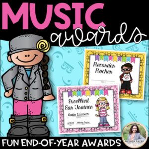 Music Awards {Elementary, Editable: Add Students' Names!}