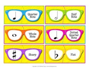 Music Matching Puzzles {Color & Ink-Friendly, American & International Terms!}