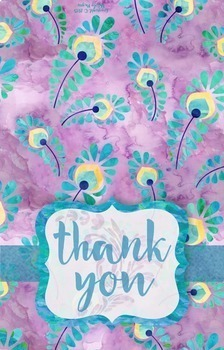 Thank You Notes FREEBIE {Purple Peacock Style}