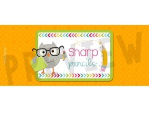 Sharp and Dull Pencil Cup Labels