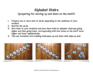Music Alphabet Games {Music Alphabet Cards ABCDEFG, Color & Ink-Friendly}