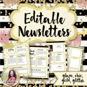 Newsletter Templates {Chic & Glam Editable Monthly Templates}