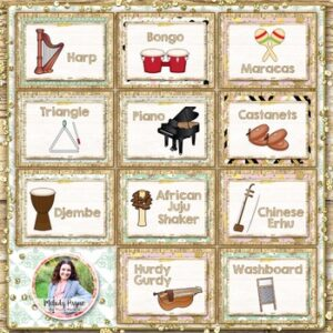 Musical Instrument Posters {95 Rustic Farmhouse Glam 8.5×11 Posters}