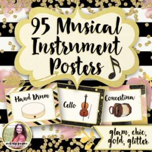 Musical Instrument Posters {95 Chic & Glam 8.5×11 Posters}