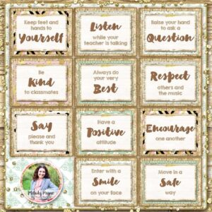 Classroom Rules Posters {Rustic Farmhouse Glam 8.5×11 Posters}